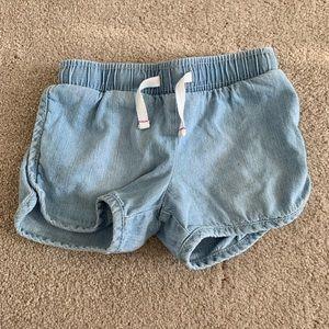 Cat & Jack NWOT chambray roller shorts